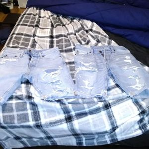 Abercrombie & Fitch Men's Ripped Jeans Shorts